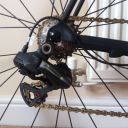 Di2 rear derailleur with BTP carbon pulleys and KCNC alloy bolts